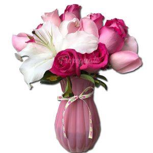 Rosas Rosadas color pastel